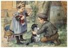 Cornelis Jetses (1873-1955)  -  Uit: Nog bij moeder - Postcard -  C3394-1