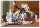 Cornelis Jetses (1873-1955)  -  Uit: Nog bij moeder - Postcard -  C3395-1