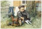 Cornelis Jetses (1873-1955)  -  Uit: Nog bij moeder - Postcard -  C3396-1