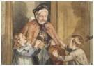 Cornelis Jetses (1873-1955)  -  Uit: Nog bij moeder - Postcard -  C3399-1