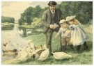 Cornelis Jetses (1873-1955)  -  Uit: Nog bij moeder - Postcard -  C3403-1
