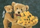 Mirja de Vries  -  Teddybears love flowers no. 14 - Postcard -  C4213-1