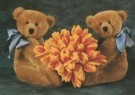 Mirja de Vries  -  Teddybears love flowers no. 23 / Sunny Bears - Postcard -  C4222-1