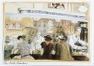 Edward Sorel (1929)  -  E.Sorel/The Soda Fountain - Postcard -  C7005-1