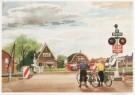 Charles Burki (1909-1994)  -  C.Burki/Overweg met halve bome - Postcard -  C7137-1