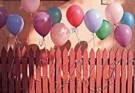 Stephen Hender  -  Balloons on Fence - Postcard -  C8202-1