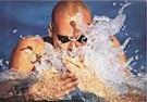 Laci Perenyi  -  Wasserspiele eines Brustschwimmers - Postcard -  C8389-1