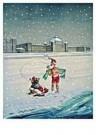 Jan Lavies (1902-2005)  -  Explotatie zeebad Sch - Postcard -  C8529-1
