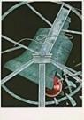 Frank Dam (1952)  -  Dam/ klok en kerstbal - Postcard -  D0184-1
