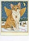 Francien van Westering (1951)  -  Binkie als kerstengel - Postcard -  D0833-1