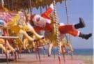Gill Hasson  -  Santa in Brighton - Postcard -  D1099-1