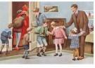 -  Na het bezoek van Sint en Piet, ca. 1930 - Postcard -  D1119-1