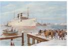-  Aankomst van de stoomboot, ca. 1930 - Postcard -  D1130-1
