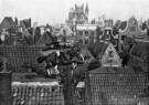 Spaarnestad Fotoarchief,  -  Sinterklaas met zijn paard over de daken - Postcard -  D1156-1