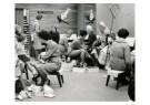 Spaarnestad Fotoarchief,  -  Sinterklaas bezig met het passen van schoenen - Postcard -  D1157-1