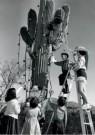 Spaarnestad Fotoarchief,  -  Kerstmis, kerstviering in de woestijn van Tuscon - Postcard -  D1205-1
