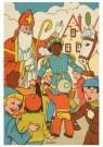 000004 -  Sint en Piet tussen de kinderen - Postcard -  D1228-1