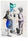 Ton Kraayeveld (1955)  -  Uit serie Stadswerken - Postcard -  DM037-1