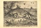 P. van der Heyden (1520-1572)  -  Grote vissen eten de kleine - Postcard -  DM044-1
