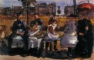 Isaac Israels (1865-1934)  -  Op de Bank - Postcard -  PA034-1
