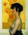 Isaac Israels (1865-1934)  -  Vrouw in profiel - Postcard -  PA036-1