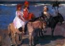 Isaac Israels (1865-1934)  -  Kinderen op ezeltjes - Postcard -  PA037-1