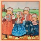 Rie Cramer (1887-1977)  -  vier kinderen in Oud-Hollandse klederdracht in Nederlands - Postcard -  PS1030-1