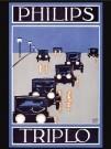-  Triplo autolampen, Philips - Postcard -  PS1043-1