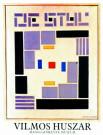 Vilmos Huszar (1884-1960)  -  Comp.de Stijl/ 48*62/ K - Poster -  PS135-1