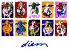 Peter Diem (1945)  -  Designer cow's - Postcard -  PS736-1