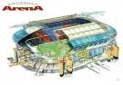 Rudolf Das (1929)  -  Stadion Amsterdam Arena/ 45*60 - Postcard -  PS839-1
