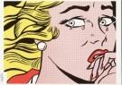 Roy Lichtenstein (1923-1997)  -  Crying Girl - Postcard -  QA032-1