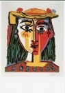 Pablo Picasso (1881-1973)  -  Picasso / Dame met hoed / Br - Postcard -  QA034-1