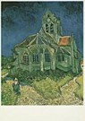 Vincent van Gogh (1853-1890)  -  van Gogh/Church at Auvers - Postcard -  QA092-1