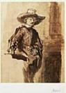 Rembrandt Van Rijn (1606/7-'69 -  Rembrandt/Staalmeester/BvB - Postcard -  QA108-1
