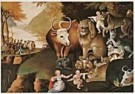 Edward Hicks (1780-1849)  -  E.Hicks/Peacable Kingdom/NGW - Postcard -  QA200-1