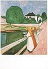 Edvard Munch (1863-1944)  -  White night / PMM - Postcard -  QA227-1