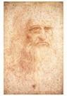 Leonardo da Vinci (1452-1519)  -  Self Portrait - Wenskaarten-set -  QA376-1