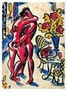 Eddy Varekamp (1949)  -  Heer dame en vis. - Postcard -  QC282-1