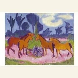 Landschap met paarden, circa 1925