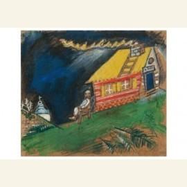 Devant la maison au toit jaune, 1911-1912