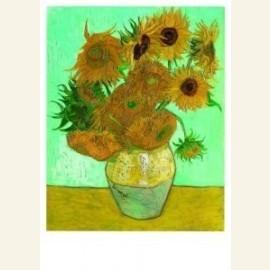 Twelve Sunflowers in a vase