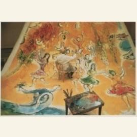 Marc Chagall (1887-1985) temidden van de danseress