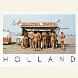 Fish Stand on nudist beach, Holland