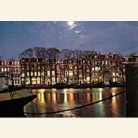 Amstel River in moonlight, Amsterdam