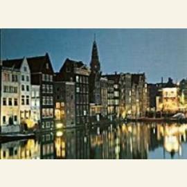 Damrak at night, Amsterdam