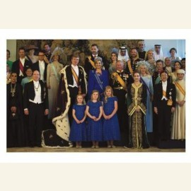 Groepsfoto Koning Willem-Alexander,Koningin Maxima