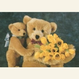Teddybears love flowers no. 14