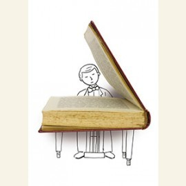 A writer is like a pianist