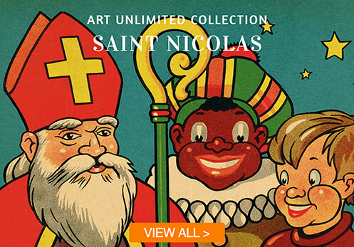 saint nicolas cards with button